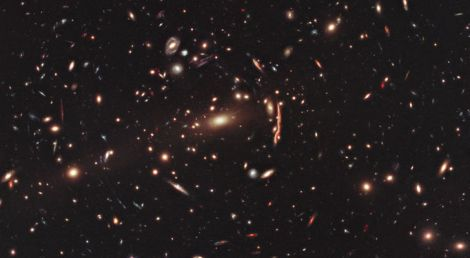 Hubble-Sees-Dark-Matter-Distorting-Galaxies